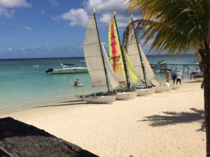 Sailing at Trou aux Biches