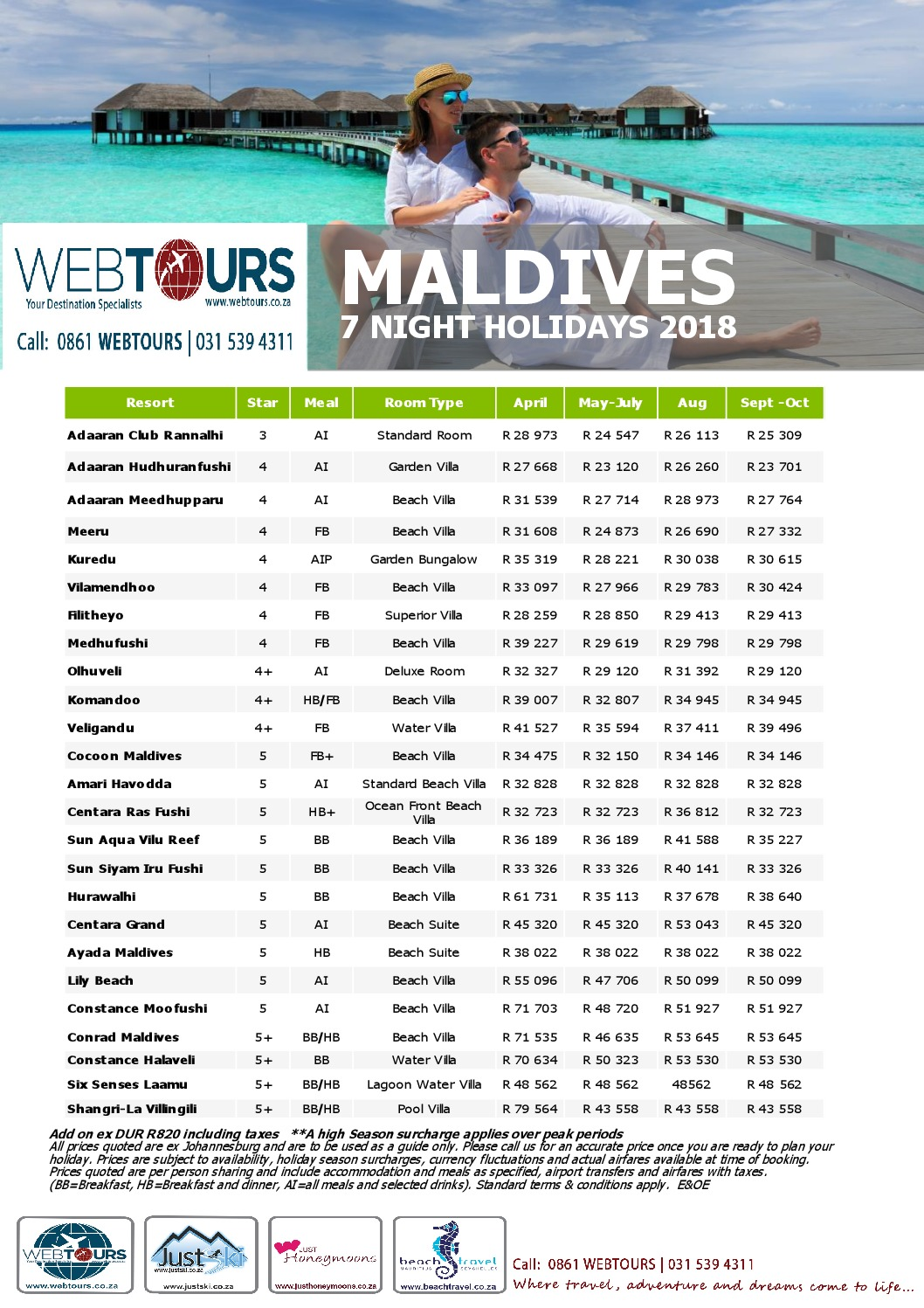 7 Nights Maldives, Valid until Oct '18
