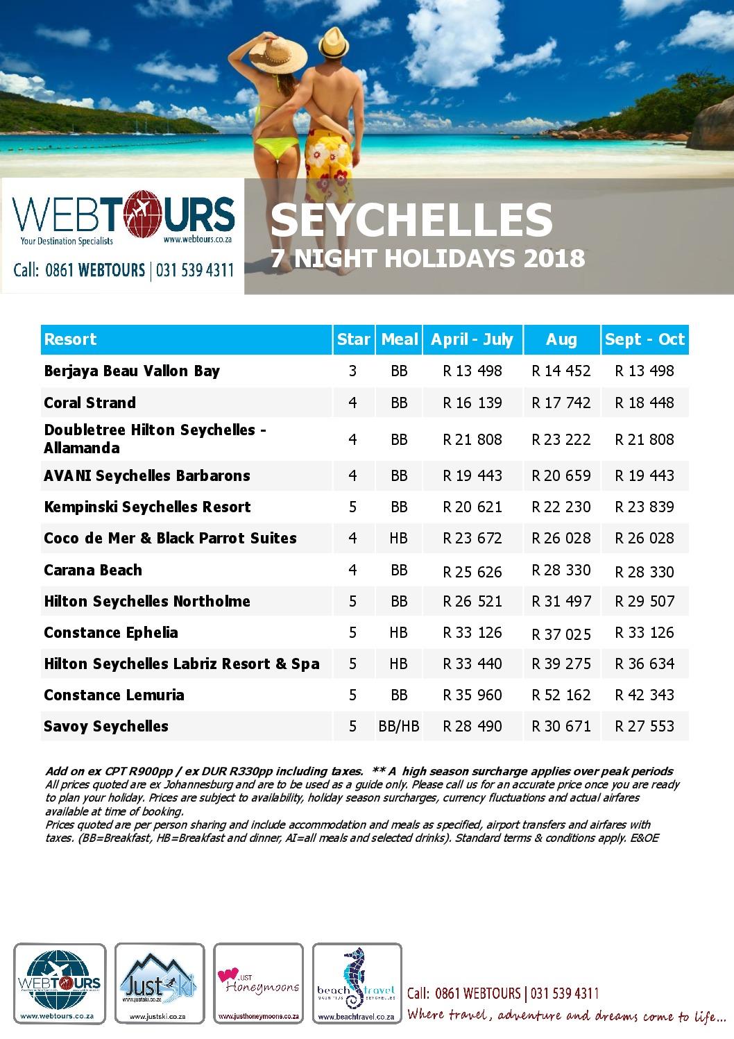 7 Nights Seychelles, Valid until Oct '18