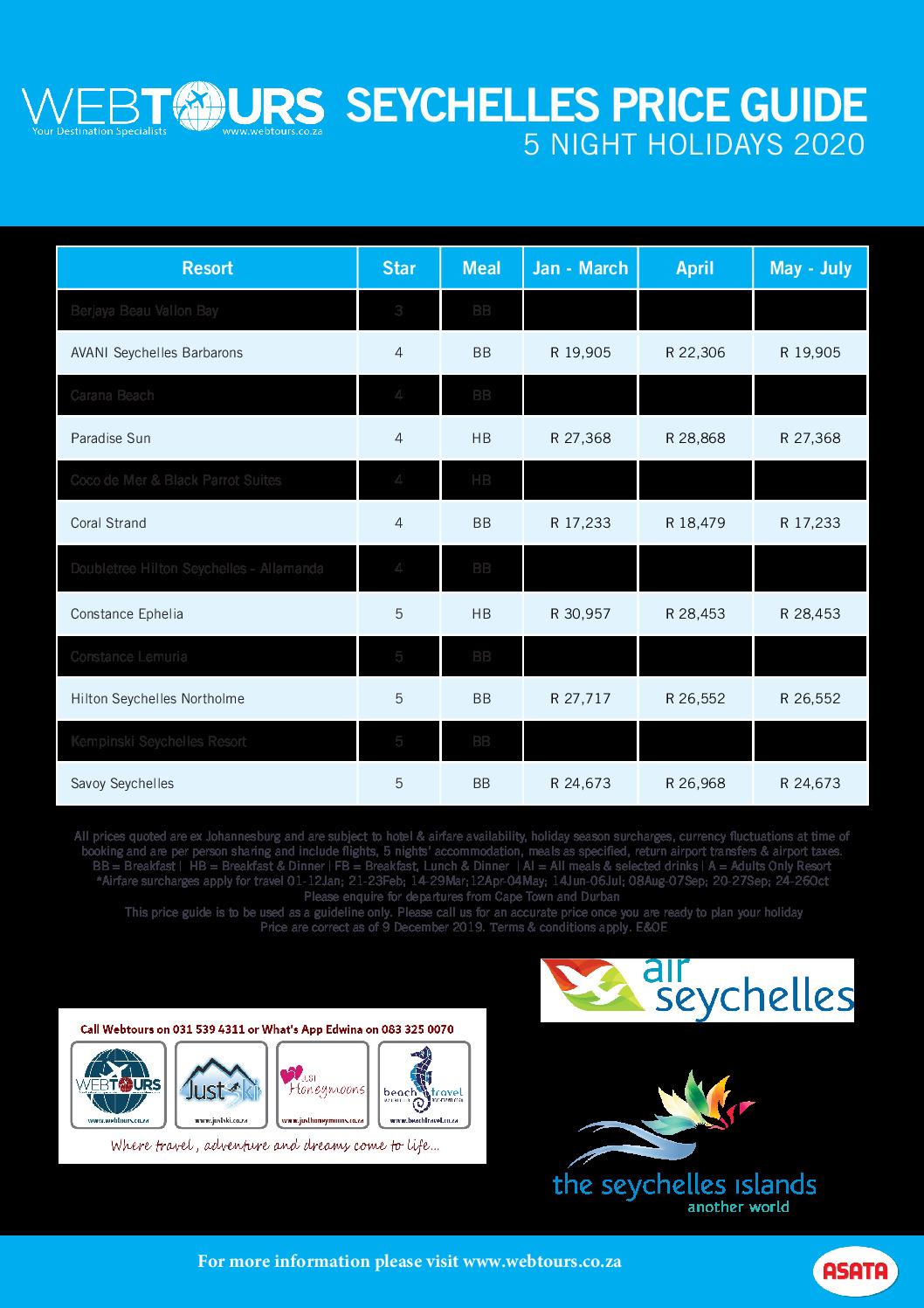 5 Nights Seychelles, Valid until Jan – Jul '20