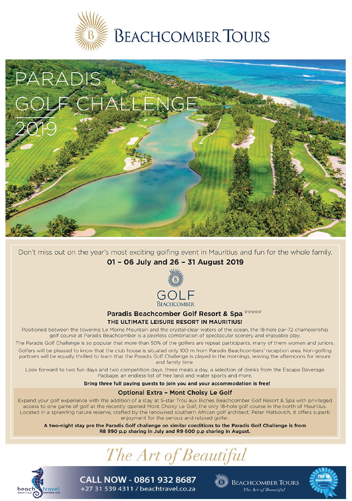 Beachcomber – Paradis Golf Challenge 2019