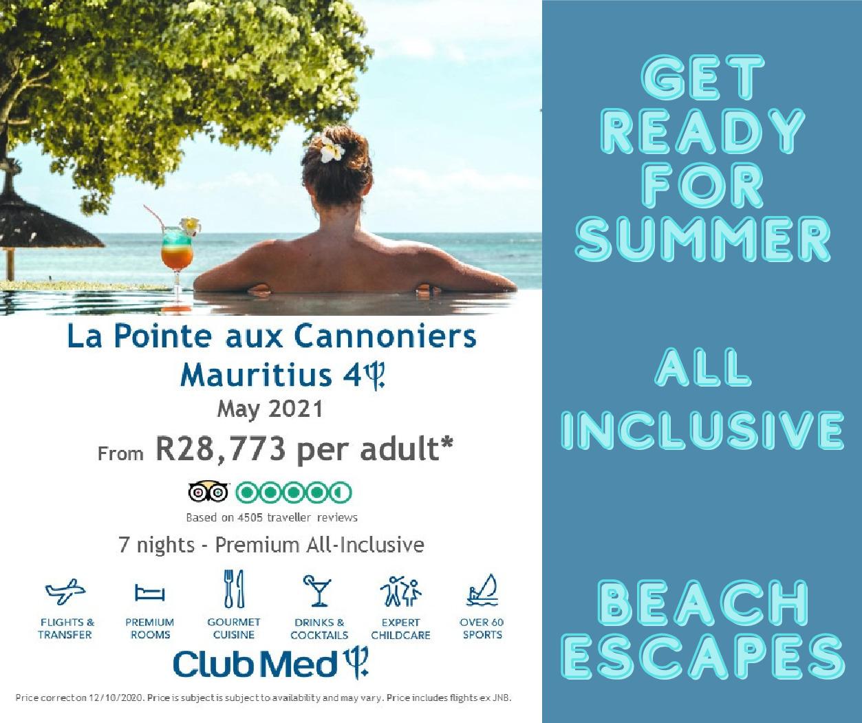 Club Med Mauritius – May 2021