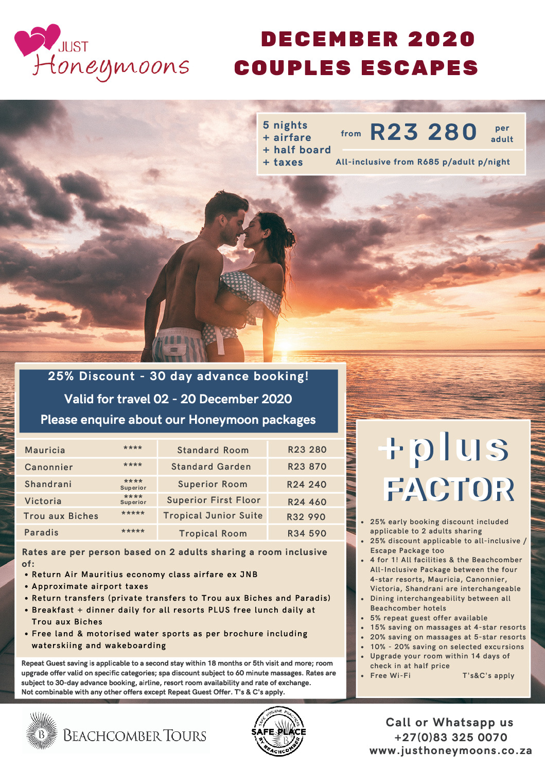 Couples Escape December 2020