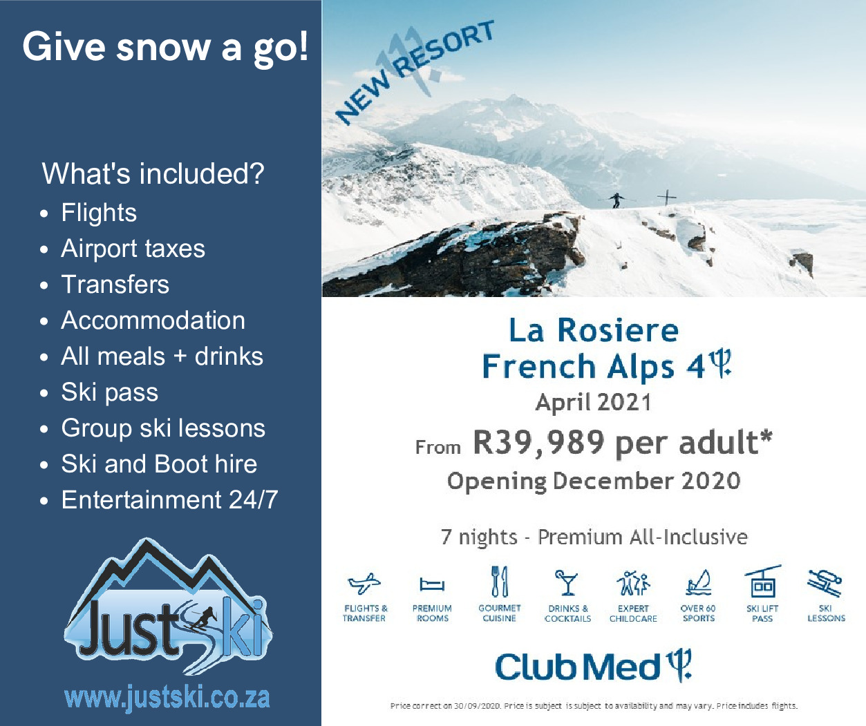 Club Med La Rosiere French Alps – April 2021