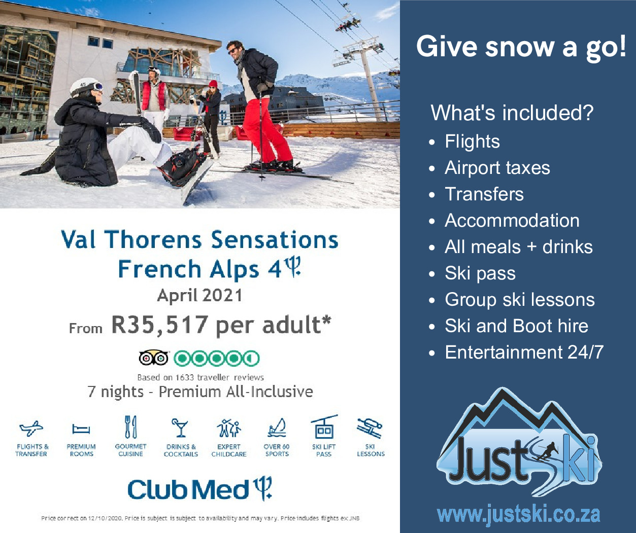 Club Med Val Thorens Sensations French Alps – April 2021